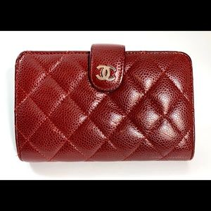 Chanel Matelasse Bordeaux Cavier skin